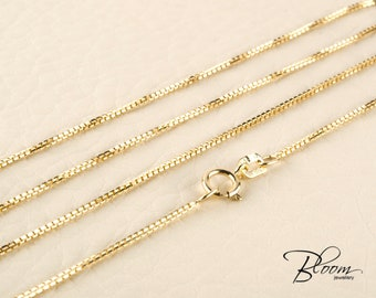 Delicate Gold Chain 14K Solid Gold Chain Necklace Thin Gold Chain Delicate Gold Necklace Gold Chain Minimalist Gold Chain Delicate Chain 14K