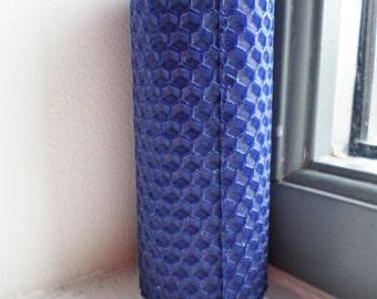 Reflex Blue Beeswax Candle