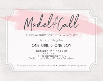 Model Call / Casting Call / Model Search Photography Photoshop Template PSD