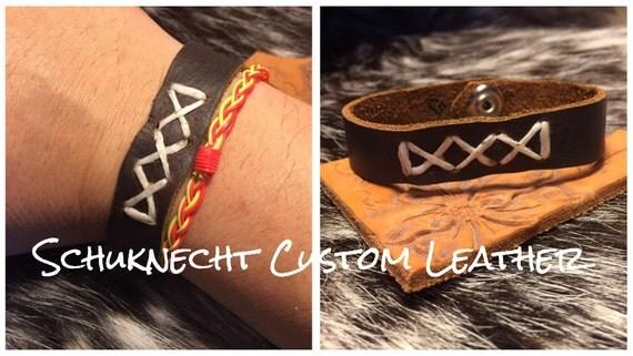 Rustic Brown Leather Bracelet