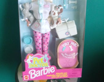 Mattel Pet Doctor Barbie Doll Vintage Barbie Doll