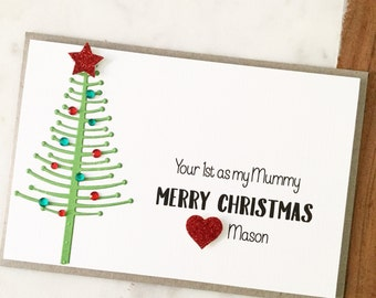 Items similar to Mummy's 1st Christmas Card, Mum Christmas Gift ...