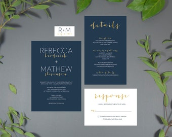 Modern Italia Printable Wedding Invitation Digital File