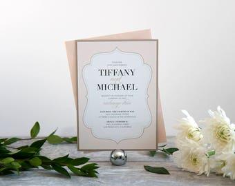 Elegant Love Wedding Invitation, Deposit to Get Started