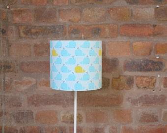 Nursery lamp shade, blue nursery, nautical lamp, nursery décor, drum lampshade, lampshade, kids lamp, children lampshade, nursery table lamp