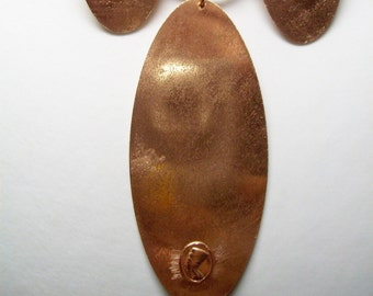 "Parure natural copper ""Nefertiti""."