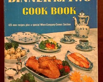 Betty Crocker's Dinner for Two Cook Book, vintage cookbook