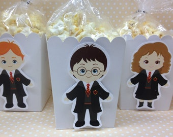 Harry Potter Party Popcorn or Favor Boxes - Set of 10