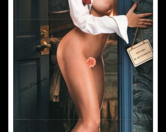 "Mature Playboy November 1997 : Playmate Centerfold Inga Drozdova Gatefold 3 Page Spread Photo Wall Art Decor 11"" x 23"""