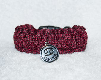 Cancer Sign, Zodiac, Paracord Bracelet, Cancer Crab, Star Signs, Horoscope Gifts, Astrology, Birthday Gifts, Cancer, Water Sign, Cancer Gift