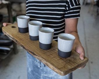 Ceramic Espresso Cups Set,  Black and White Cups, Ceramic espresso cups, Modern Espresso Cups, Espresso Mug, Housewarming Gift, Wedding Gift