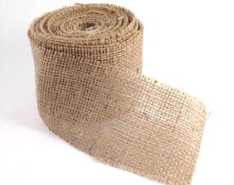 Burlap Ribbon 10 Yards (30 feet) 3 inch wide with cut edge