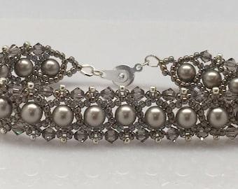 Crystal Pearl And Crystal Bracelet