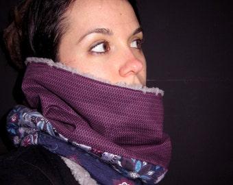 Snood / purple mauve cotton collar