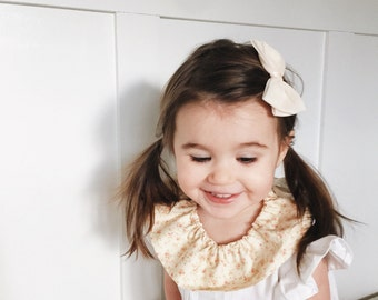 Detachable floral ruffle collar for children, flower collar,, toddler ruffle collar, toddler detachable collar, floral collar