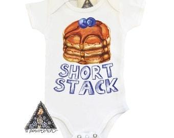 Pancake Onesie®, Short Stack Onesie, Pancake Baby Clothes, Brunch Onesie, Pancake Baby Bodysuit, Pancake Shirt