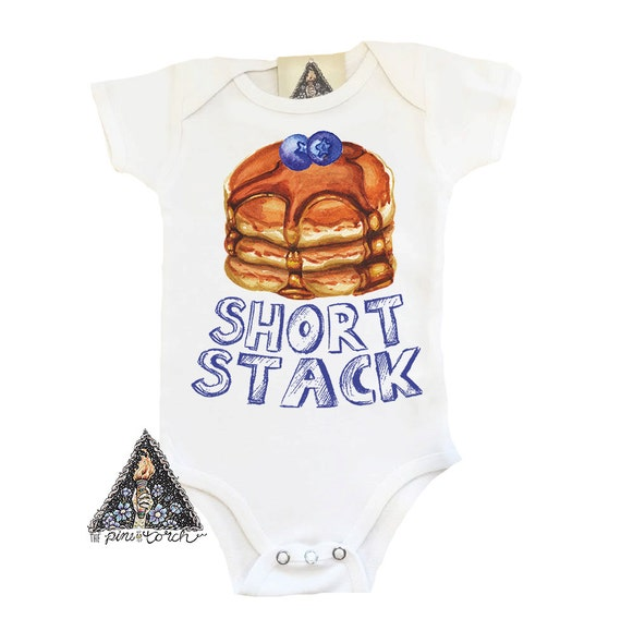 Baby Gifts For Either Gender : Short stack pancake funny baby shirt one piece creeper