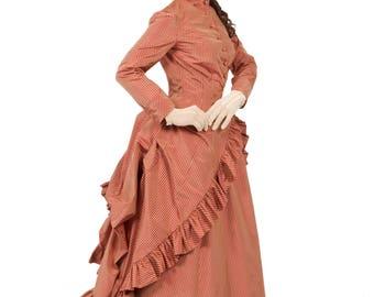 Victorian Polonaise Bustle Gown
