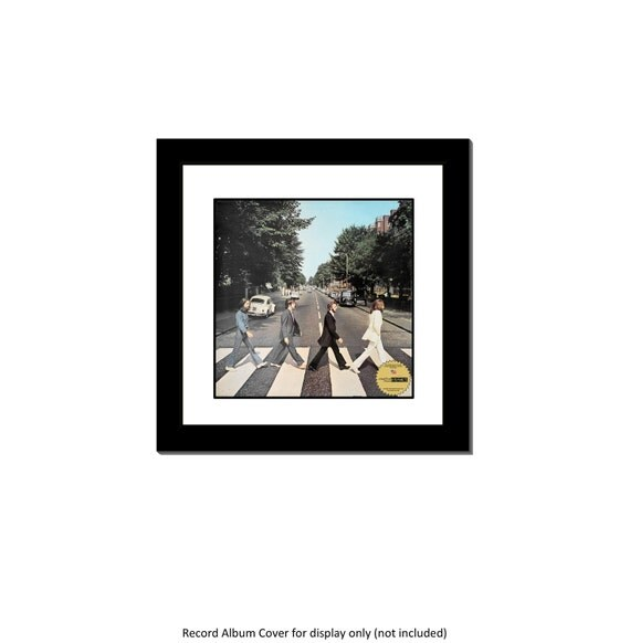 Lp Vinyl Cover Record Frame With 2 Inch Mat Display With Glass