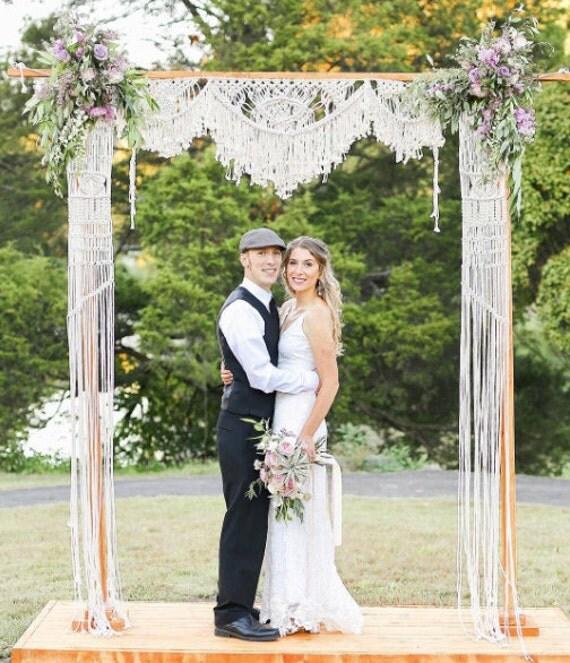 Macramae Ideas Wedding Arch: Macrame Wedding Arch Chuppah Bohemian Wedding By NiromaStudio