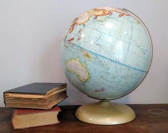Vintage Rand Mcnally World Globe