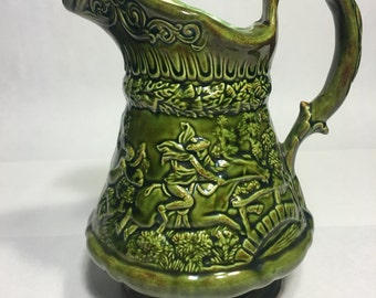 Vintage Pitcher Witch and tavern scenes