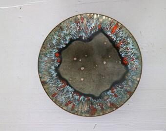 Mid century brass plate