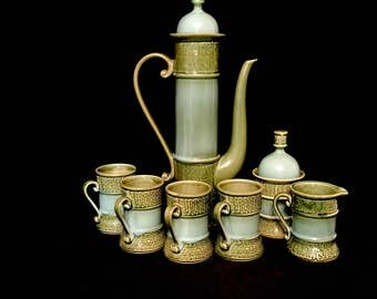 A 7 Piece Mid- Century Hostess Coffee Set   GJ2629
