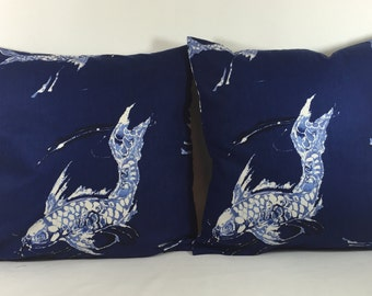 Ralph Lauren Fabric KoiIndigo  Cushion/Pillow Throws  Many Sizes Available