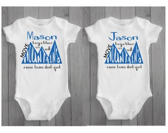 Twin baby gift etsy twin boys twin baby boys twin baby gifts twin boy matching twin negle Images