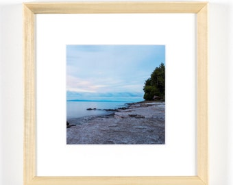"Lake Champlain, After the Storm 5""x5"" Framed Art Photograph (8""x8"" with frame)"
