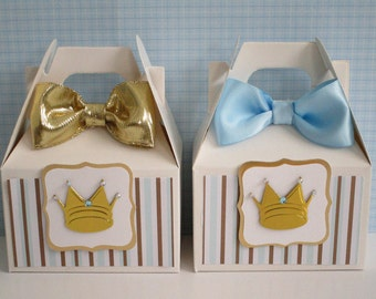 Prince Favor  Boxes, Prince Party Favor Boxes, Boy Prince Favor Boxes, Prince Baby Shower Favor Boxes, Favor Boxes, Baby Shower Favors Qty10