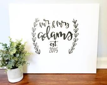 Custom guestbook canvas- 16x20 custom wedding sign, guestbook canvas, guestbook sign, wedding guestbook, wedding signs, wedding decor, custo