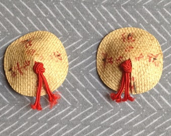 Conical Hat Clip-On Earrings