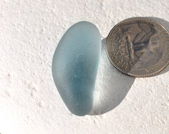 Pendant-Sized Storm Blue-Grey Sea Glass, Authentic Seaglass, Genuine Beach Glass, Jewelry Supplies, Surf Tumbled