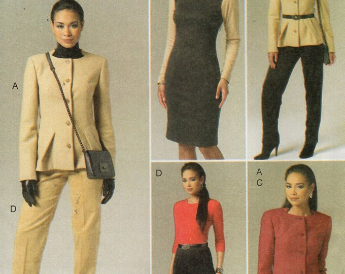 Vogue 8758 Free Us Ship Wardrobe Suit Jacket Skirt Pants Sewing Pattern Size 6 8 10 12 14 16 18 Bust 34 36 38 40 Uncut Out of Print 2011