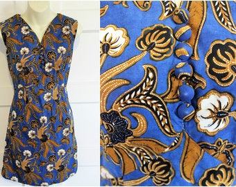 60s Hawaiian Mini Dress / Size Small / Micro 1960s Vintage / Hawaii Print / Swinging 60s / Psychedelic Sixties / 1960's Mod / Vogue / China