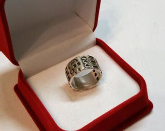 Ring Silver 925 Aztec Maya crafted rar SK197