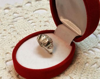 16.5 mm ring 925 Silver design vintage rar SR566
