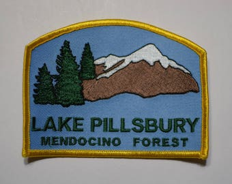 Vintage Lake Pillsbury Mendocino Forest Patch