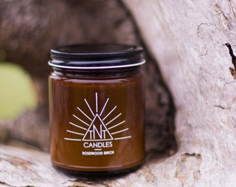 Rosewood Birch 8oz Soy Candle