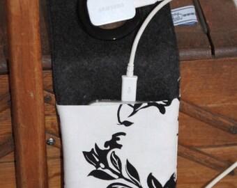 Mobile, charging bag, floral, large