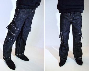 Minifee BJD Jeans - Slim Msd Pants - Msd Boy Clothes - Mnf Bjd Pants - Msd Jeans - 1/4 Bjd Pants - Male Bjd Clothes - Bjd Clothes Msd - Abjd