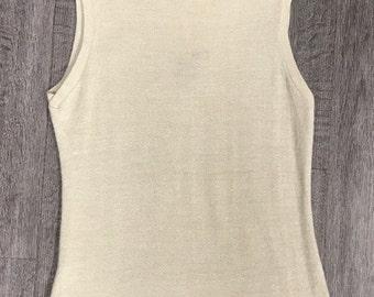 Vintage Koret of California Sleeveless Shimmer Sweater