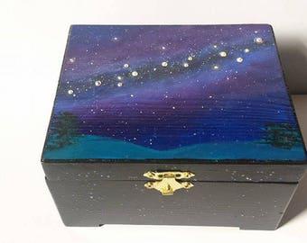 Galaxy Jewelry Box Milky Way Jewelry Box Galaxy Box Galaxy Keepsake Box Galaxy Painting Milky Way Painting Galaxy Art Milky Way Art