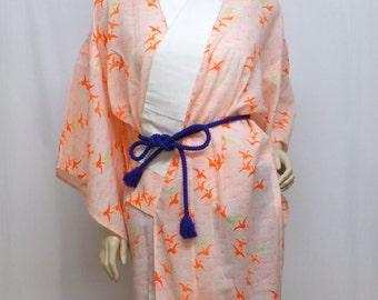 588  Japanese, Kimono, Haori, Vintage Coat