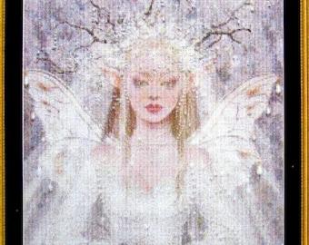 "CROSS STITCH PATTERN/* ""Fairy Bride"" mg-44 Pattern Design by Mystic Stitch Inc (2007). Arwork by Maxine Gadd. //On Sale!"