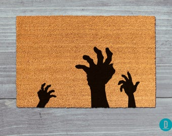 Zombie Doormat, Zombie Door Mat, Halloween Doormat, Halloween Door Mat, Halloween Welcome Mat, Zombie Welcome Mat, Halloween Decor, Zombies