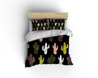 cactus duvet designer bedding southwest linens - Southwest Bedding