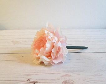 Set of 5 Light Pink Flower Pen Party Favors - Peony Flower Pens - Party Favors For Baby Shower - Flower Pens - Teen Party Favors